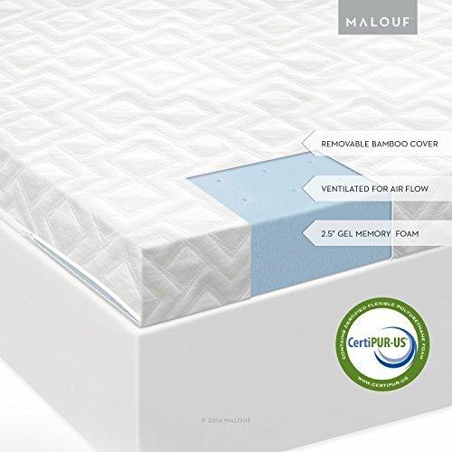 Isolus 2.5 Ventilated Gel Memory Foam Mattress Topper 3-Year Warranty,size Queen