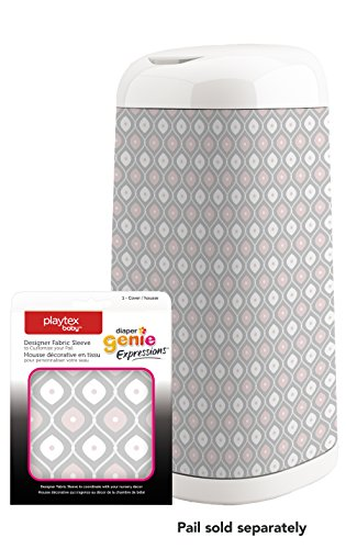 Diaper Genie Playtex Expressions Fabric Sleeve, Pink/Grey (Diaper Genie Ii Elite compare prices)