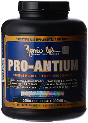 Ronnie Coleman Signature Series Pro-Antium, Great Tasting Supreme Multifaceted Protein Powder, Double Chocolate Cookie, 5.6 Pound (Ronnie Coleman Whey Protein compare prices)