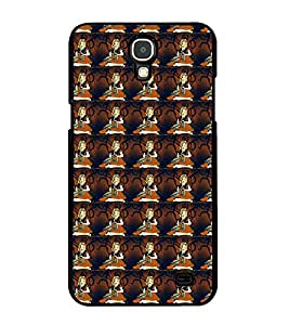 Fuson Premium 2D Back Case Cover Lady pattern With Multi Background Degined For Samsung Galaxy Mega 2 SM-G750H