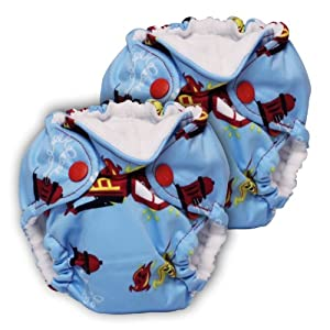 Lil Joey 2 Pack All-In-One Cloth Diaper, Ladder 6