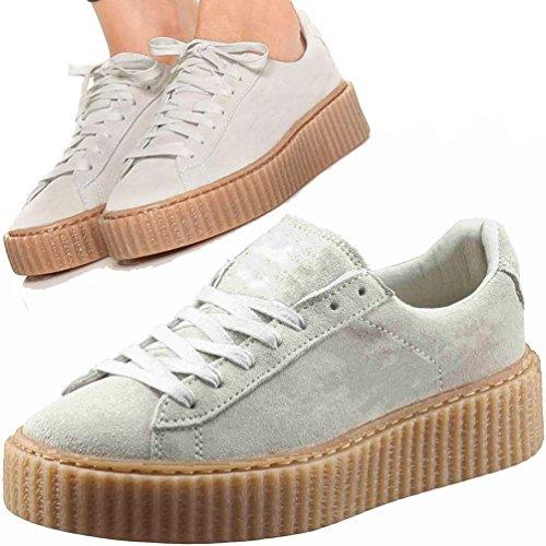 no-brand-zapatillas-de-deporte-de-piel-vuelta-mujer-beige-beige-39