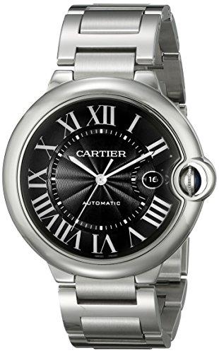 Cartier Men's W6920042 Ballon Bleu Analog Display Automatic Self Wind Silver Watch
