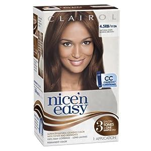 Clairol Nice 'N Easy 4.5RB 112A Natural Dark Reddish Brown 1 Kit (Pack of 3)