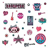 RoomMates RMK1564SCS Girls Rock-n-Roll Peel and Stick Wall Decals