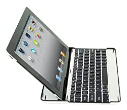 SHARKK Apple iPad 2, The New iPad 3, iPad 4 (4th Gen) With Retina Display, Bluetooth Aluminum Keyboard Case Cover Stand + Screen Protector