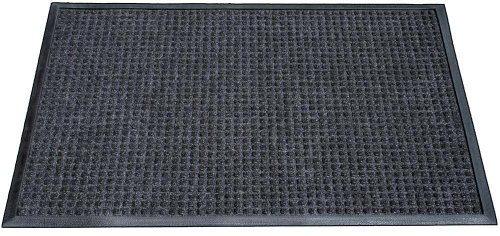 "Durable Corporation 630S0034CH Charcoal Polyester Stop-N-Dry Carpet, 4' L x 3' W x 1/2"" Thick, For Indoor and Vestibule"