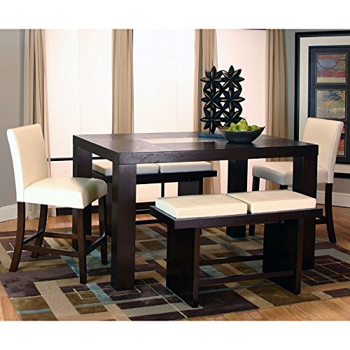 Kemper rectangular counter height dining set for Dining room tables on amazon