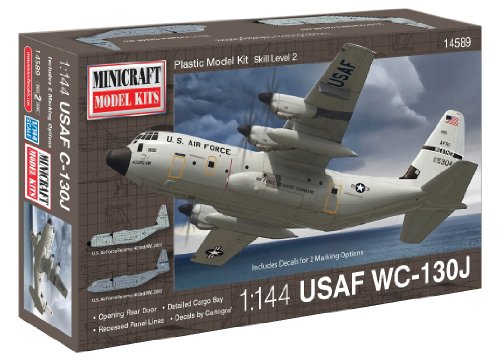 Minicraft C-130J USAF with 2 Marking Options Model Kit, 1/144 Scale (Cargo Ship Model compare prices)