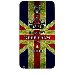Skin4gadgets I CAN'T KEEP CALM I'm A NERD - Colour - UK Flag Phone Skin for SAMSUNG GALAXY NOTE 3