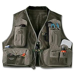 Filson mesh fly fishing vest medium otter for Fishing vest amazon
