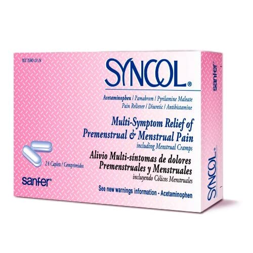 Amazon.com: Syncol Relief of Premenstrual & Menstrual Pain and Cramps