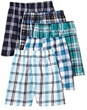 Fruit of the Loom 5Pack Boy's Plaid Boxers Boxer Shorts Kids Underwear