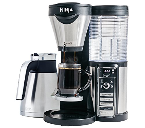 Ninja Coffee Bar Brewer, Thermal Carafe with Ninja Hot and Cold 18 oz. Insulated Tumbler and Recipe Book (CF085Z) (Draw On Coffee compare prices)