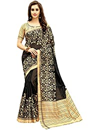 Isabella Women's Cotton Silk Saree With Blouse Material