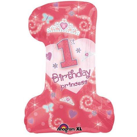 "1st Birthday Princess Jumbo 28"" Foil Balloon Party Accessory"