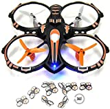 RC Stunt Drone Quadcopter w/ 360 Flip: Crash Proof, 2.4GHz, 4 CH, 3 Bladed Propellers, Extra Drone Battery for Extended Fly Time w/ Practice Landing Pad, 2 USB Charger