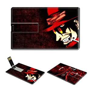 4GB USB Flash Drive USB 2.0 Memory Credit Card Size Anime Hellsing Comic Game Customized Support Services Ready Alucard-001