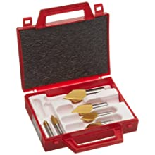 Magafor S4824 Series Cobalt Steel Single-End Countersink Set, TiN Coating, Single Flute, 82 Degrees, Round Shank
