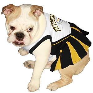 Pets First Pittsburgh Steelers Pet Cheerleader Uniform at SteelerMania