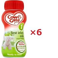 Cow&Gate(カウ&ゲート) 液体ベビーミルク 0-6カ月 200ml stage1の商品イメージ