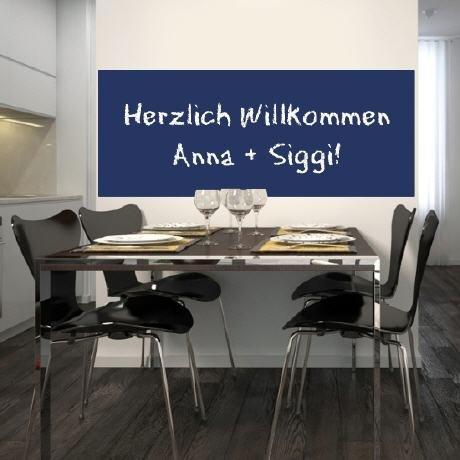 Möbelfolie selbstklebend Tafelfolie Kreidetafel Wandtafel inkl. 2 Kreidestiften 70×50 blau online kaufen