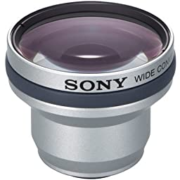 Sony VCLHG0725 Wide Conversion Lens x0.7 for DCR-DVD101, 201, 301, 105, 205, 305, DCR-HC21, 32, 43, 26, 36 & 46 Camcorders