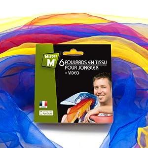 6 foulards de jonglage / danse + Vidéo professionnelle d'instructions en ligne GRATUITE de MisterM