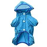 AWHAO 雨の日のお散歩が楽しくなる おしゃれな レインコート レインコート 梅雨 雨具 カッパ 夏 犬用 小型 中型 大型 3色 6サイズ