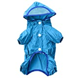 AWHAO おしゃれな レインコート レインコート 梅雨 雨具 カッパ 夏 犬用 小型 中型 大型 3色 6サイズ