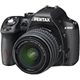 Pentax K-500 16MP Digital SLR Camera Kit with DA L 18-55mm f3.5-5.6 Lens (Black)