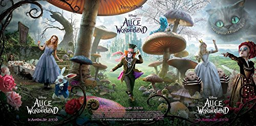 Alice in wonderland (49x24 inch, 122x60 cm) Silk Poster Seta Manifesto PJ1A-305B