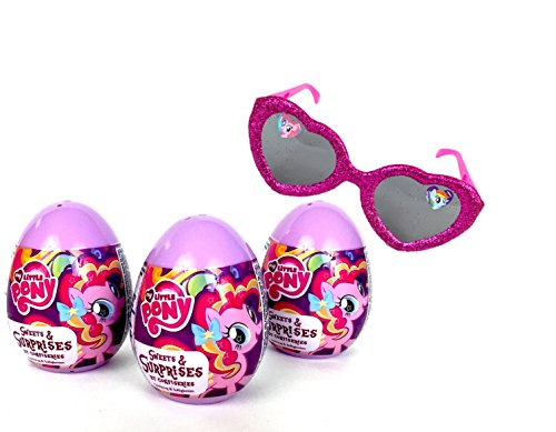 3 My Little Pony Plastic Surprise Eggs and 1