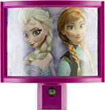 GE 13378 Disney Frozen Light-Sensing LED Night Light, Pink/Purple