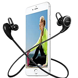 wireless bluetooth earbuds bluetooth headphones stereo bass noise cancelling. Black Bedroom Furniture Sets. Home Design Ideas