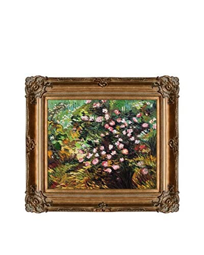 Vincent van Gogh Rosebush In Blossom Framed Hand-Painted Oil Reproduction