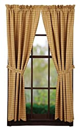Amherst Short Panel Scalloped Lined Set of 2 63x36\