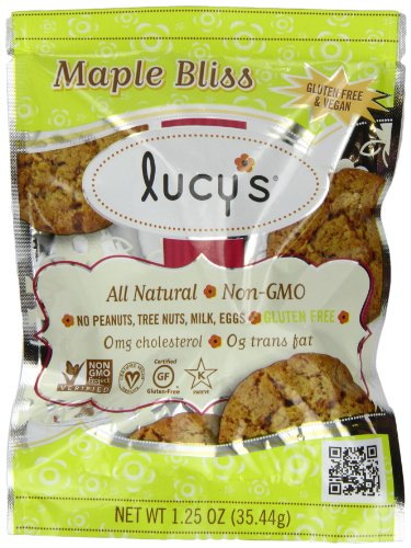 Lucy's Gluten Free Cookies Grab and Go, Maple Bliss, 1.25-Ounce (Pack of 16)