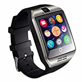 GZDL Q18 Bluetooth Smart Watch Touchscreen with Camera Unlocked Watch Cell Phone with Sim Card Slot Smart Wrist Watch Smartwatch Phone for Android Samsung IOS iPhone 7 Plus 6S (Silver)