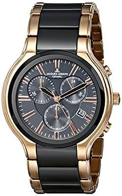 Jacques Lemans Men's Watch Quartz Chronograph XL Dublin 1-1742C Ceramic