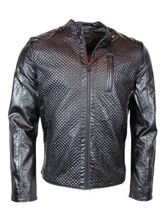 Lederjacke - luxury-style - schwarz