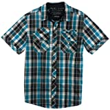 Marc Ecko: Cut & Sew Mad Plaider Short-Sleeve Button-Up Shirt