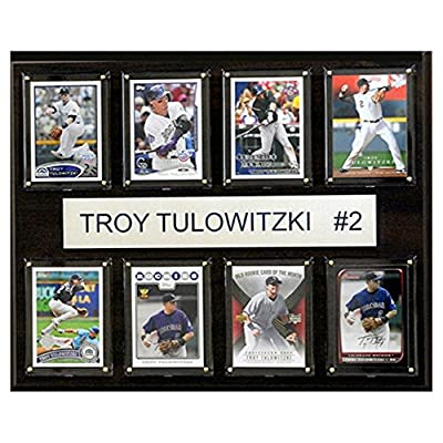 C and I Collectables MLB 15W x 12H in. Troy Tulowitzki Colorado Rockies 8 Card Plaque