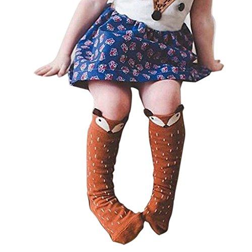 kolyr-ninos-fox-calcetines-de-rodilla-del-patron-ninos-calcetines-altos-pare-anos-6-cafe