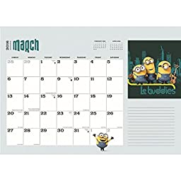 Minions 2016 Desk Pad by Calendar Ink