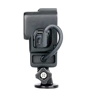ULANZI V2 Protective Case with Cold Shoe Mount for GoPro Microphone Adapter Storage W Back Door Compatible with Gopro Hero 7 6 5 Frame Housing Accessories Perfect Vlogging Video Filmmaking (Color: Black, Tamaño: ABS GoPro Vlog Case)