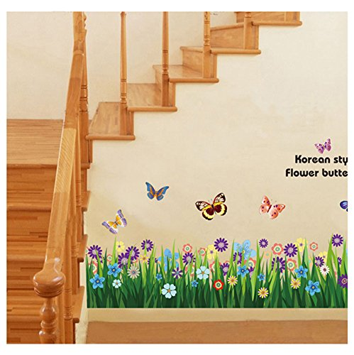 Home Decor Decals Poster House Wall Stickers Quotes Removable Vinyl Large Wall Sticker For Kids Rooms Stickers Butterfly Flowers front-916162