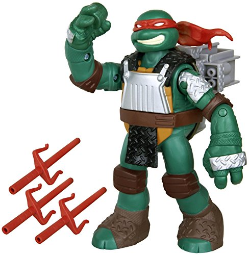 Teenage Mutant Ninja Turtles Flingers Sai Throwing Raphael Figure - 1