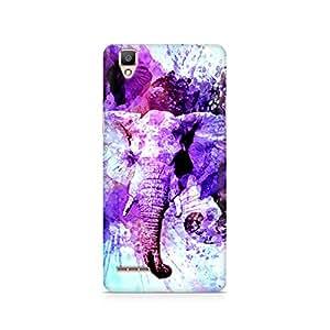 Rubix Customized Designer Hard Back Phone Case of Watercolor Elephant for OPPO F1