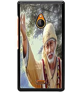 ColourCraft Lord Sai Baba Design Back Case Cover for NOKIA XL